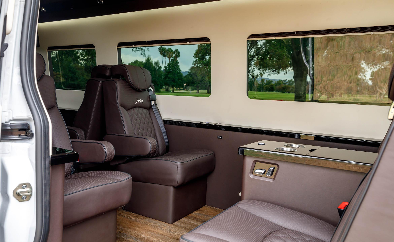 Custom Interior Bespoke Mercedes Benz Luxury Sprinter Van Conversion & Luxury Mobile Offices.