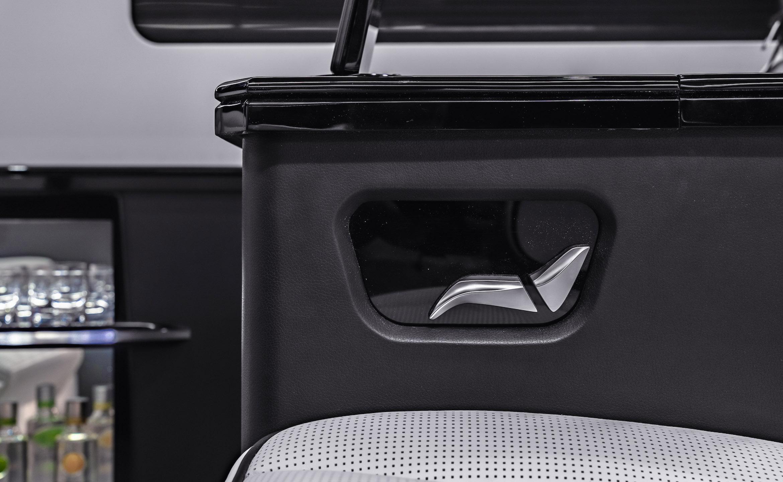 Custom Interior Bespoke Mercedes Benz Luxury Sprinter Van Conversion, Bathroom, & Luxury Mobile Offices.